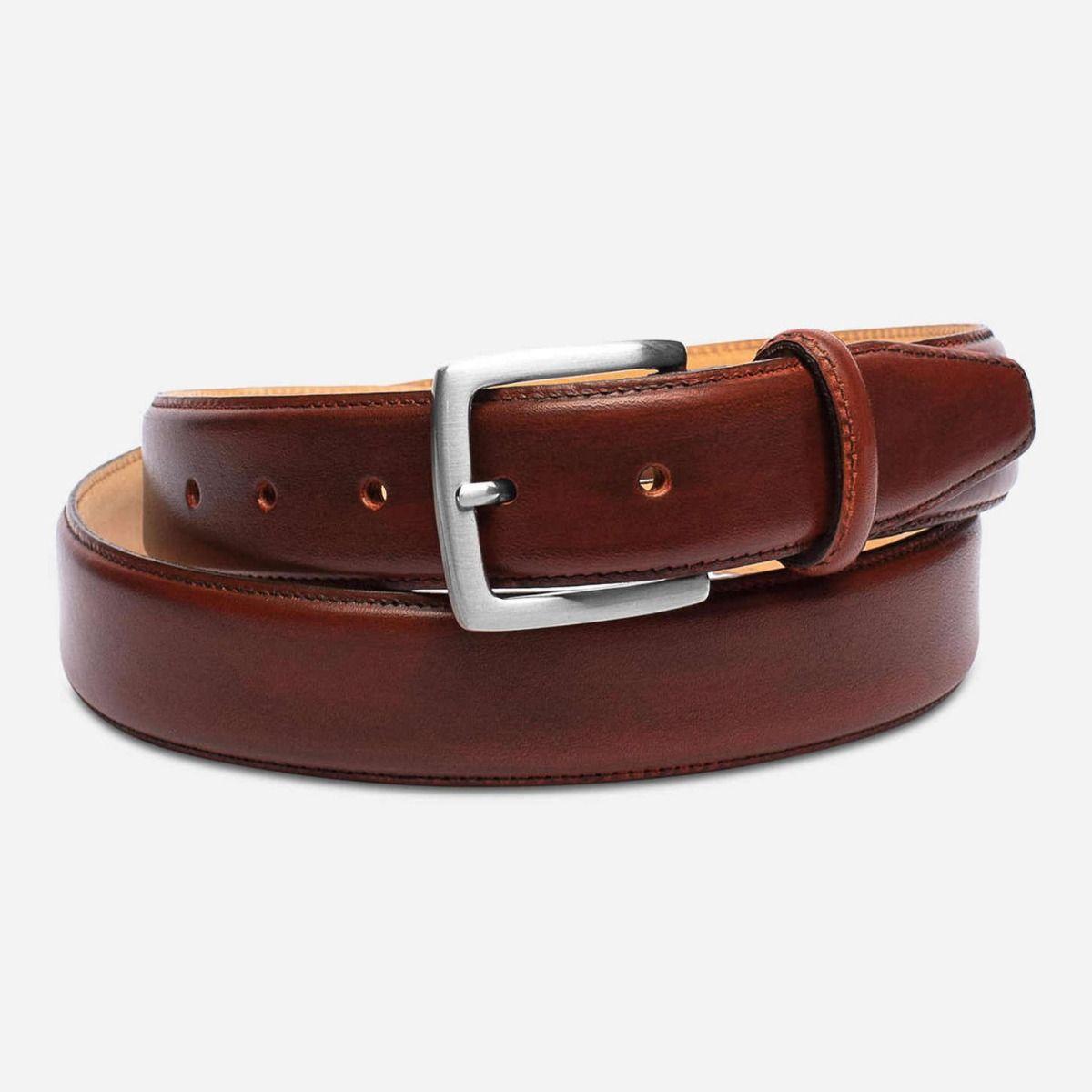 Brown Leather Belt Ends