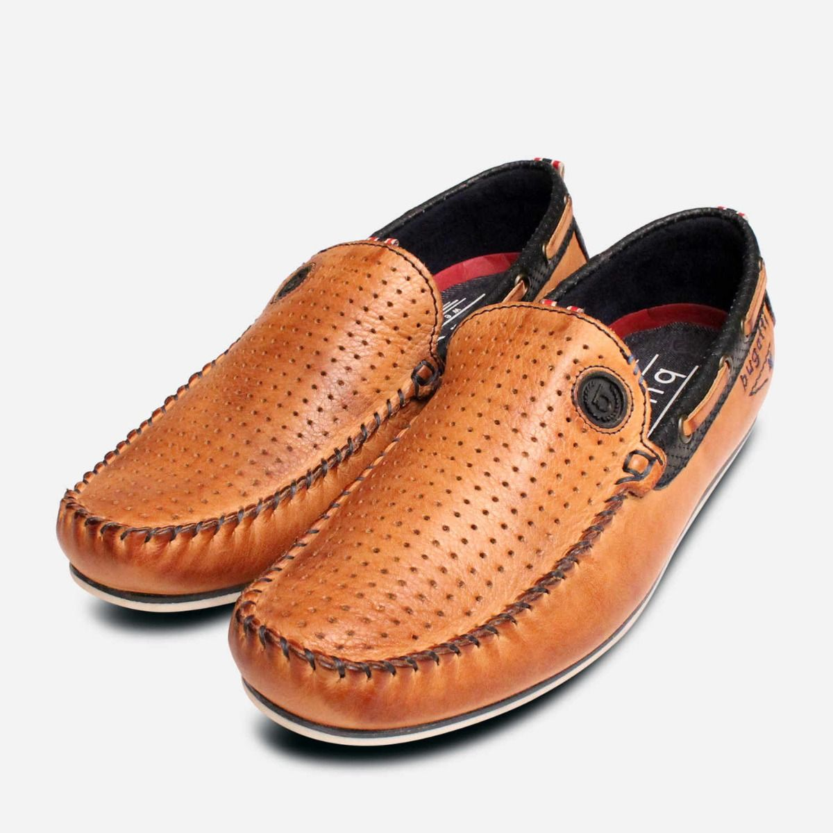 Bugatti Shoes Designer Tan Brown