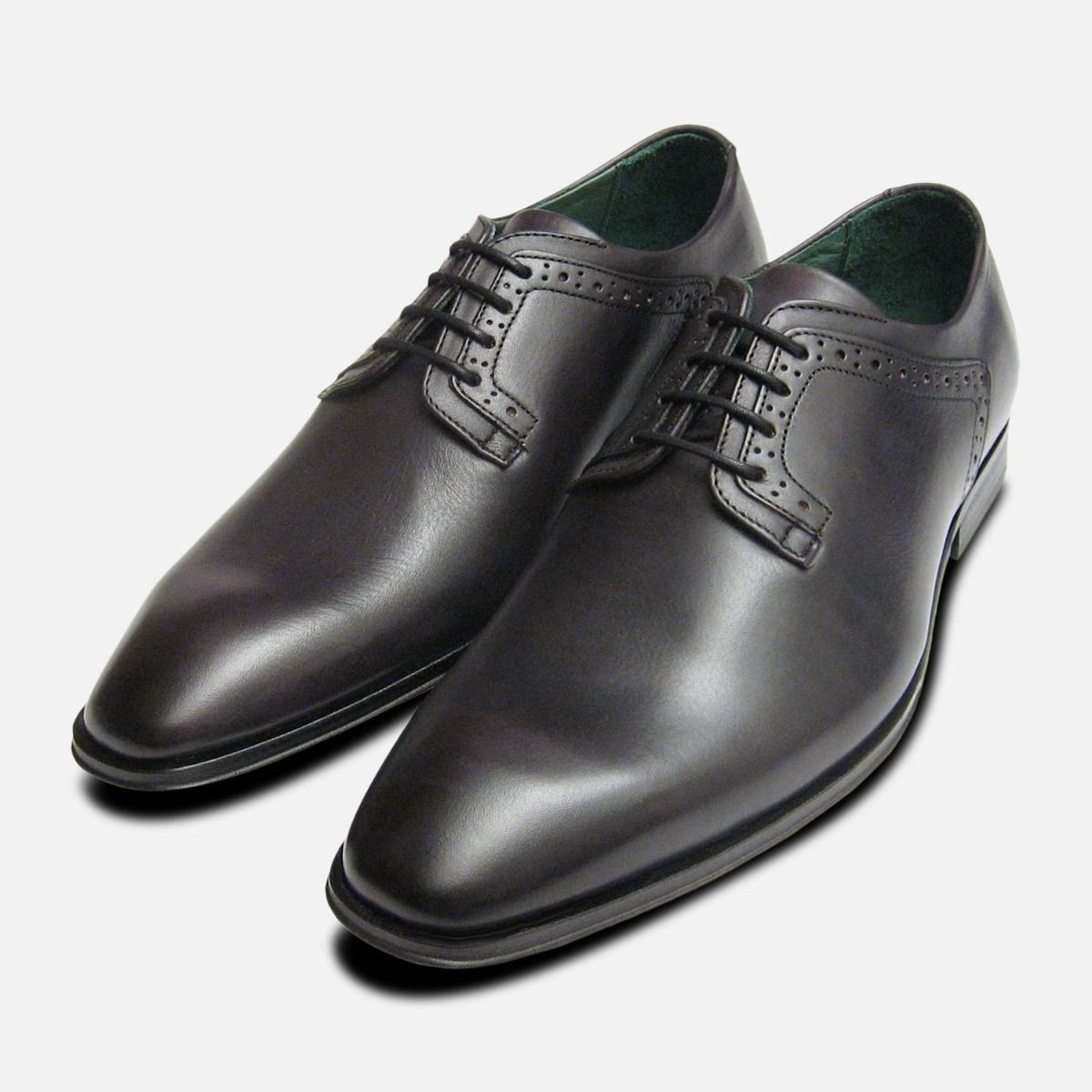 Formal Dark Grey Mens Lace Up Shoes