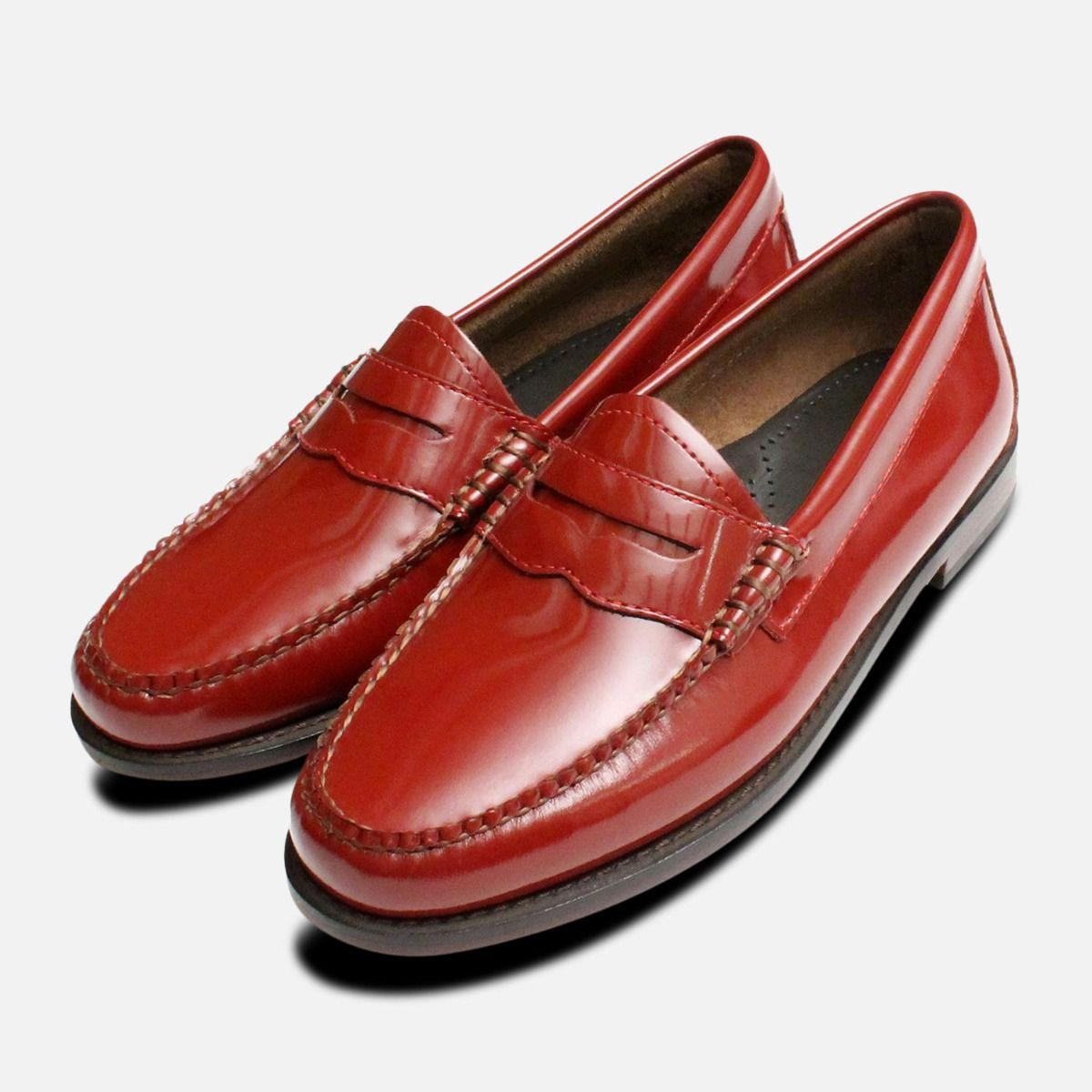 Cardinal Red Patent Bass Loafer Ladies