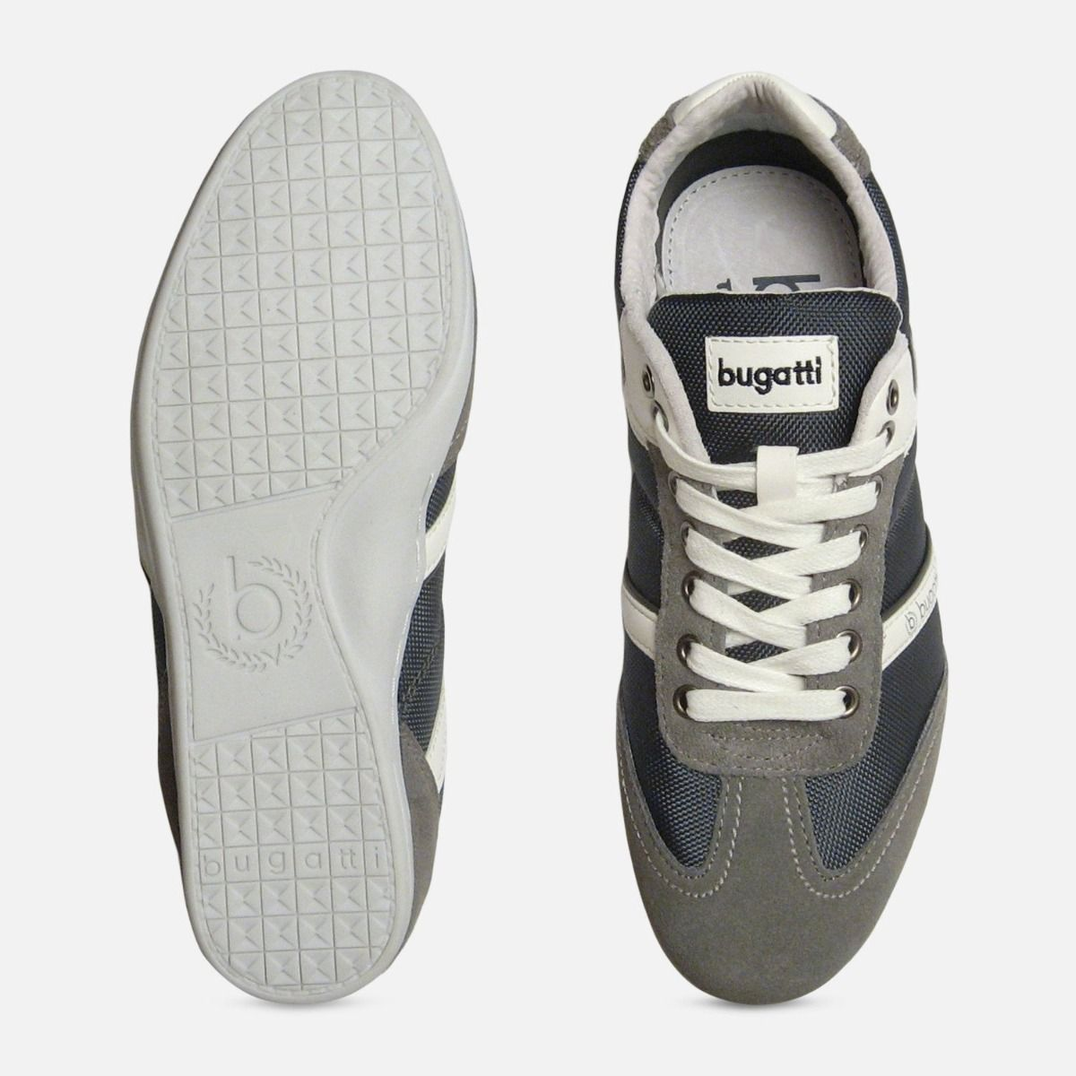 Grey Suede Leather Designer Trainers