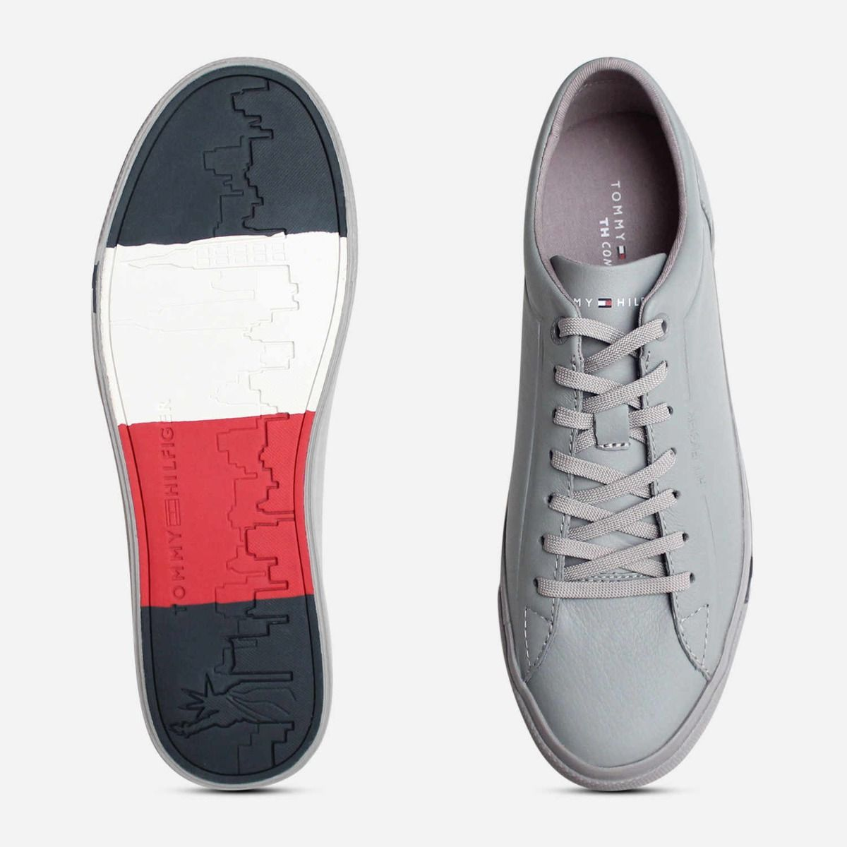 Premium Grey Leather Tommy Hilfiger