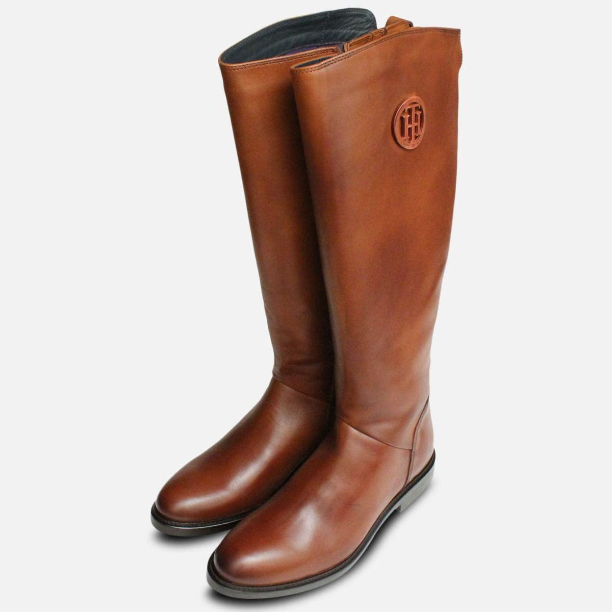 Tommy Hilfiger Tall Ladies Cognac Boots