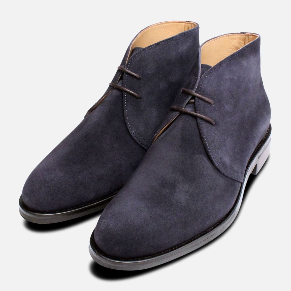Navy Blue Suede Westbury 5 Mens Ankle Boots