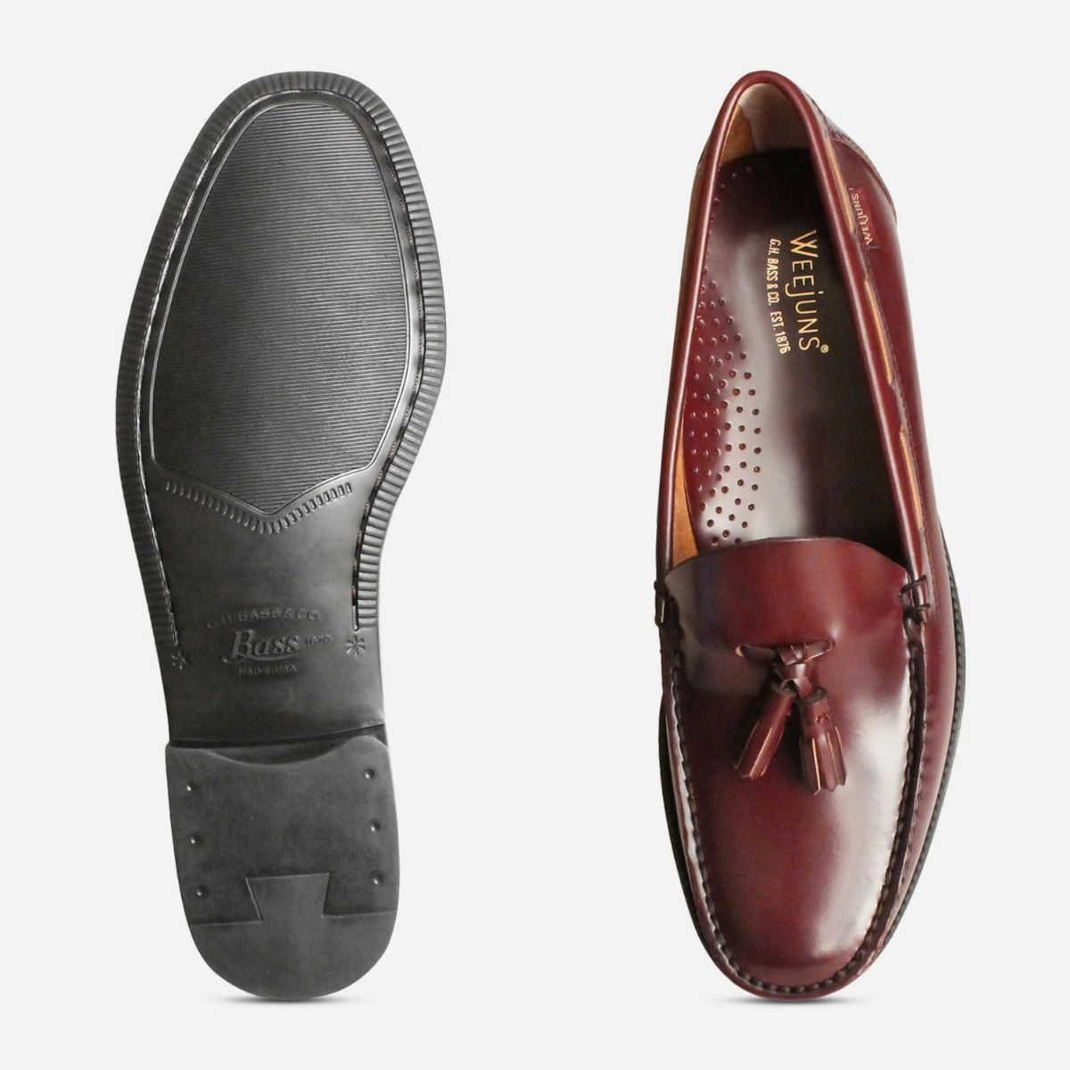Mens Bass Weejun Tassel Loafer Shoes