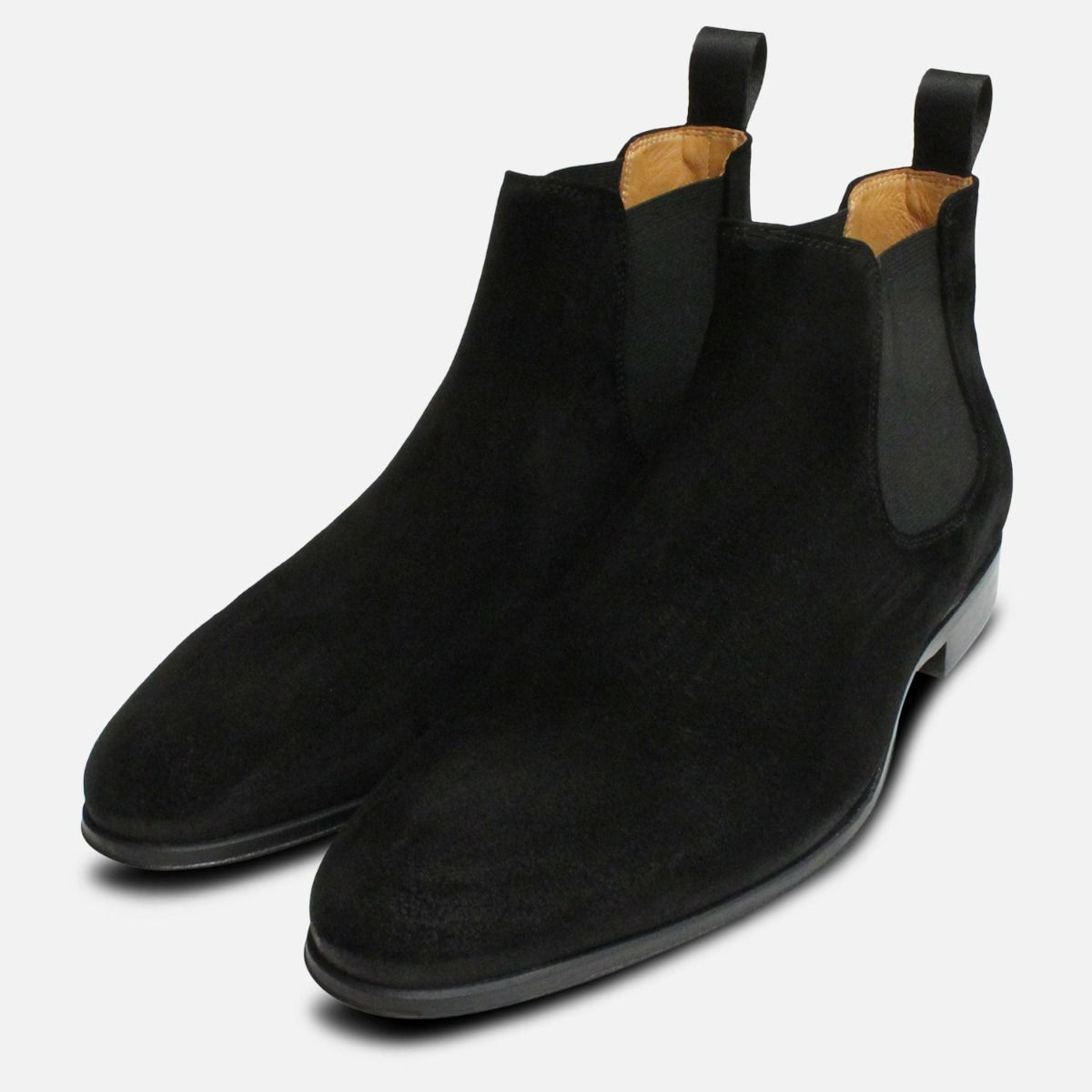Beatle Boots in Black Suede for Men by