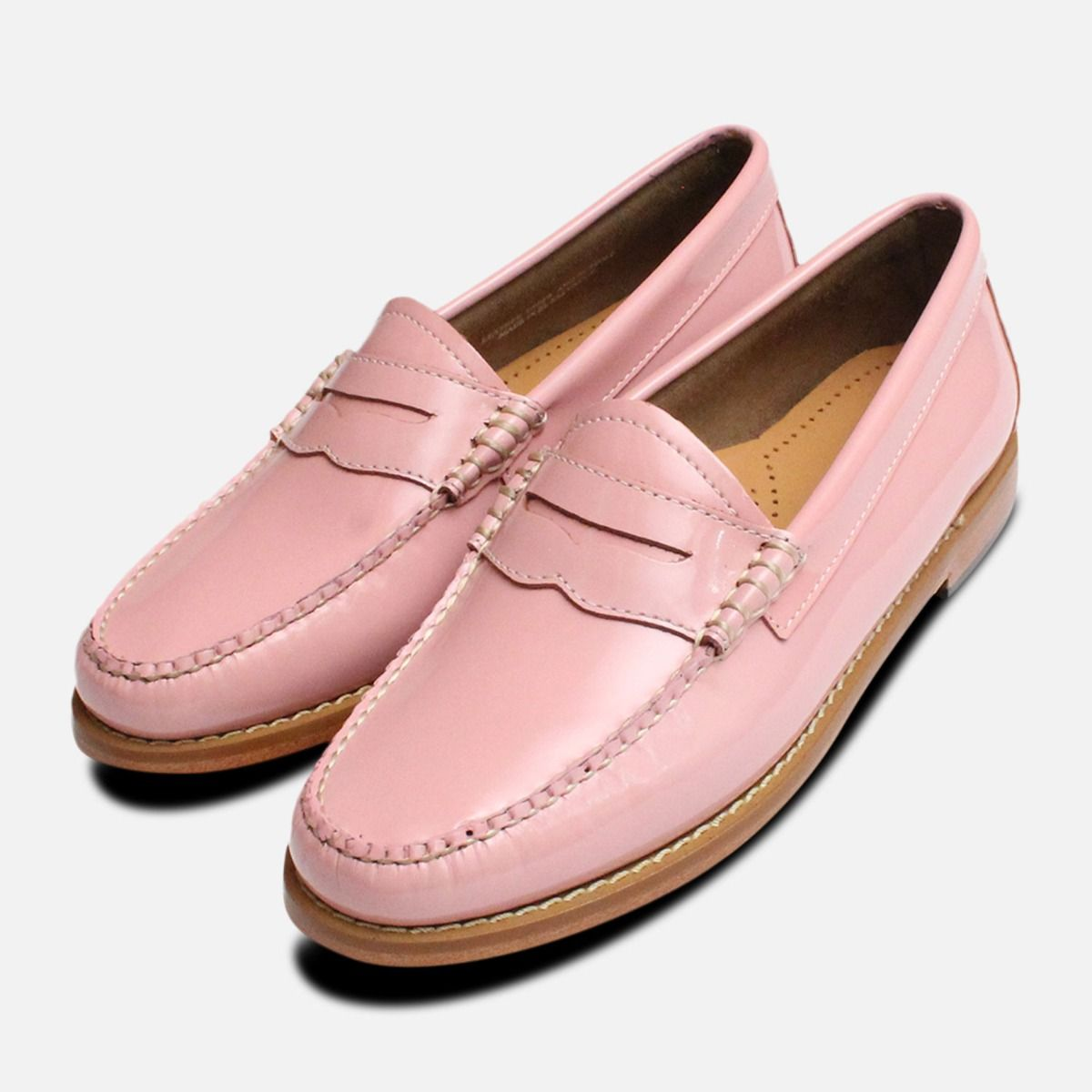 Pink Patent Leather Ladies Penny