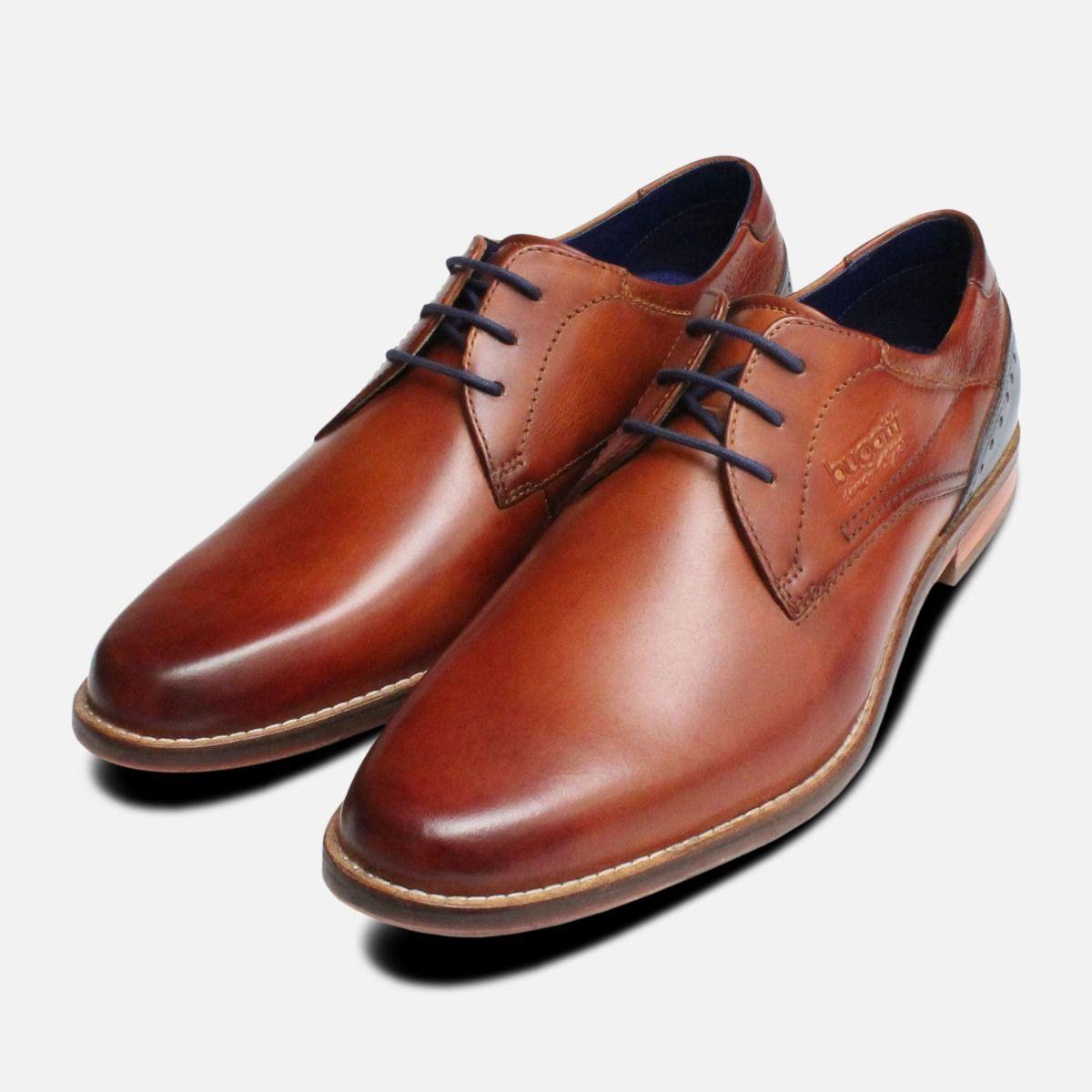 Plain Toe Light Brown Formal Mens
