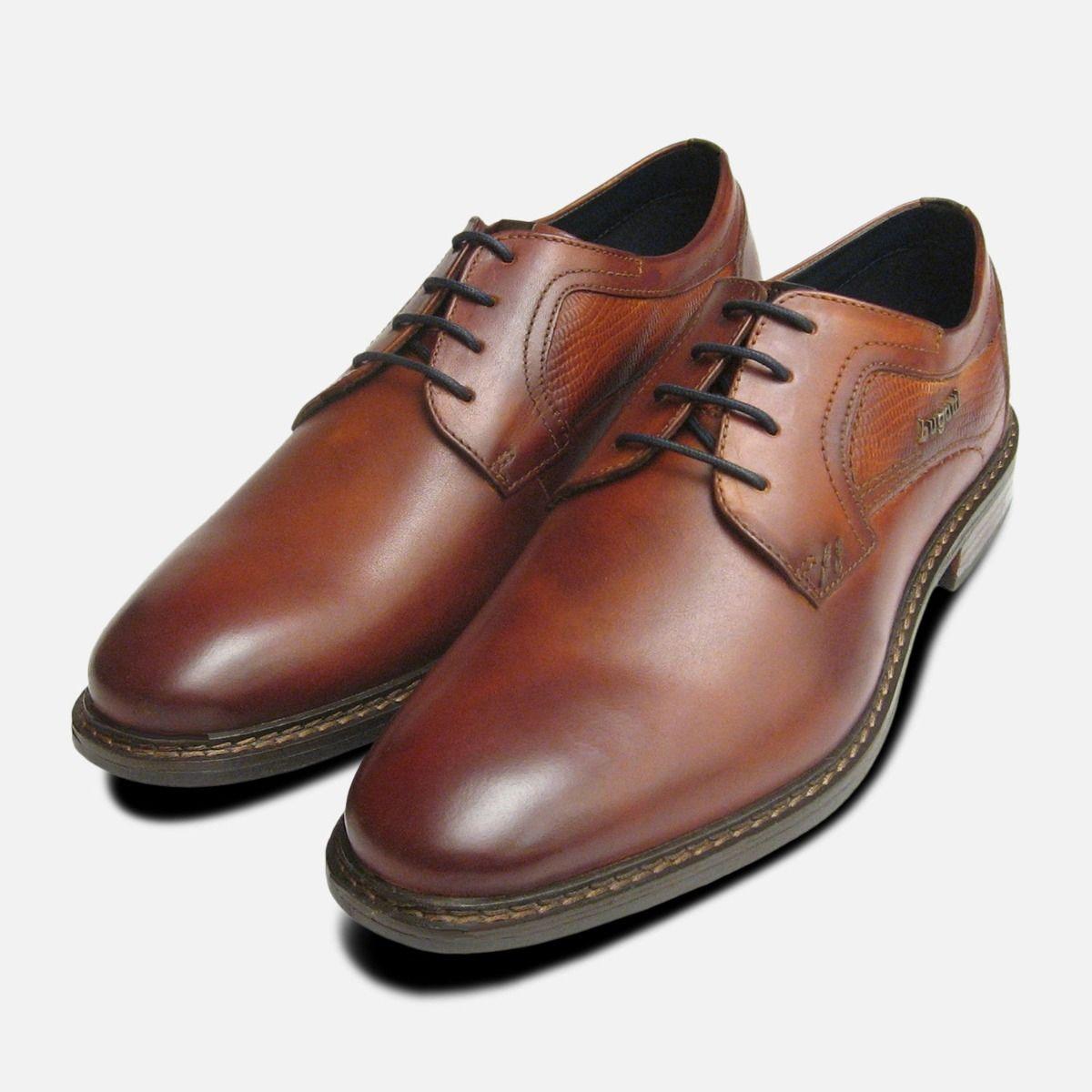 Brown Smart Lace Up Shoes Bugatti Men