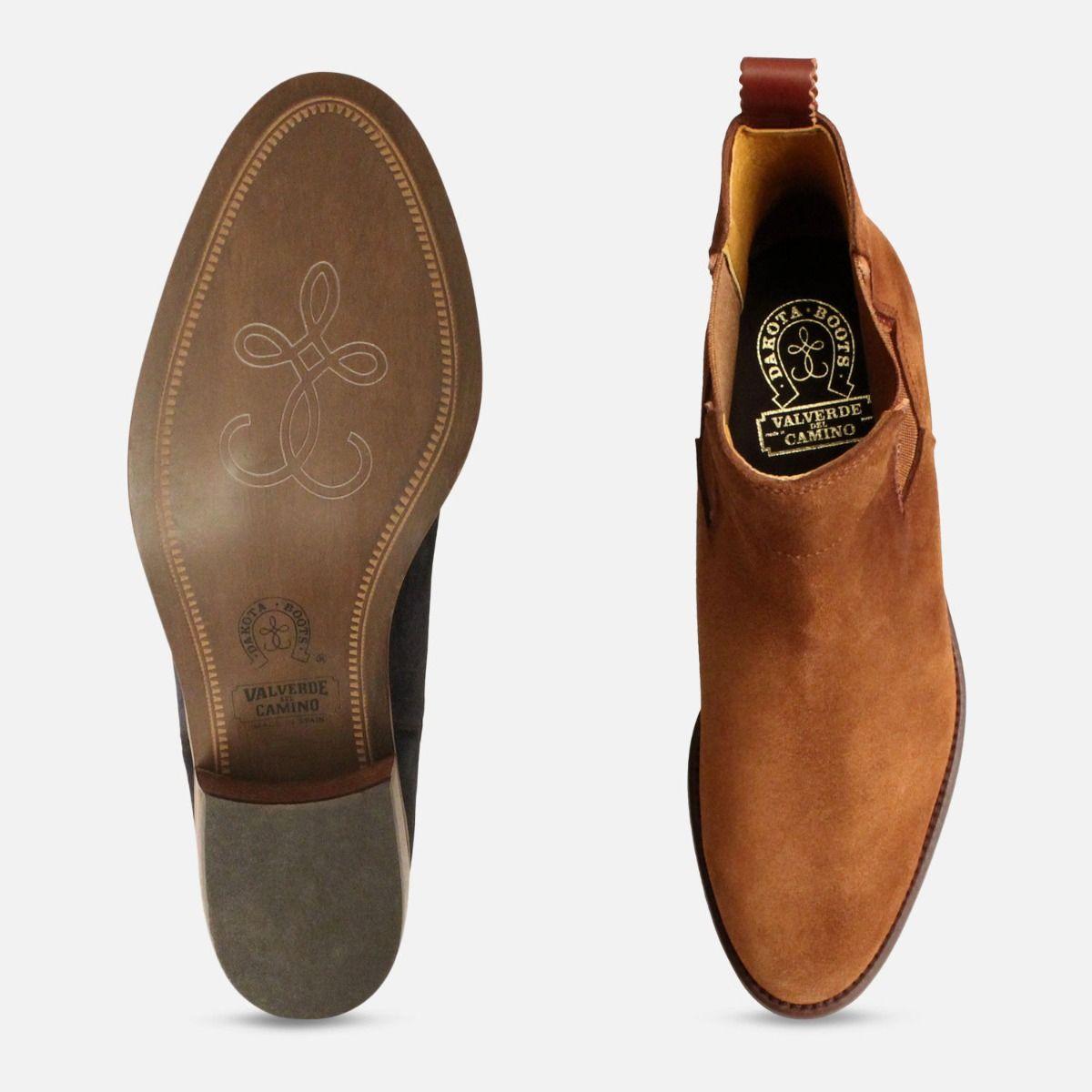 Ladies Cuban Heel Chelsea Boots in Tan