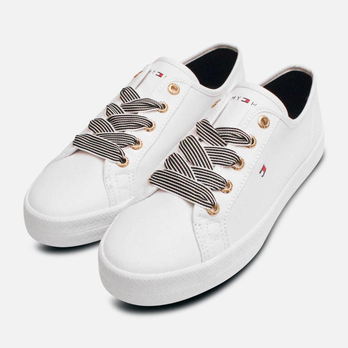 Tommy Hilfiger White Canvas Nautical