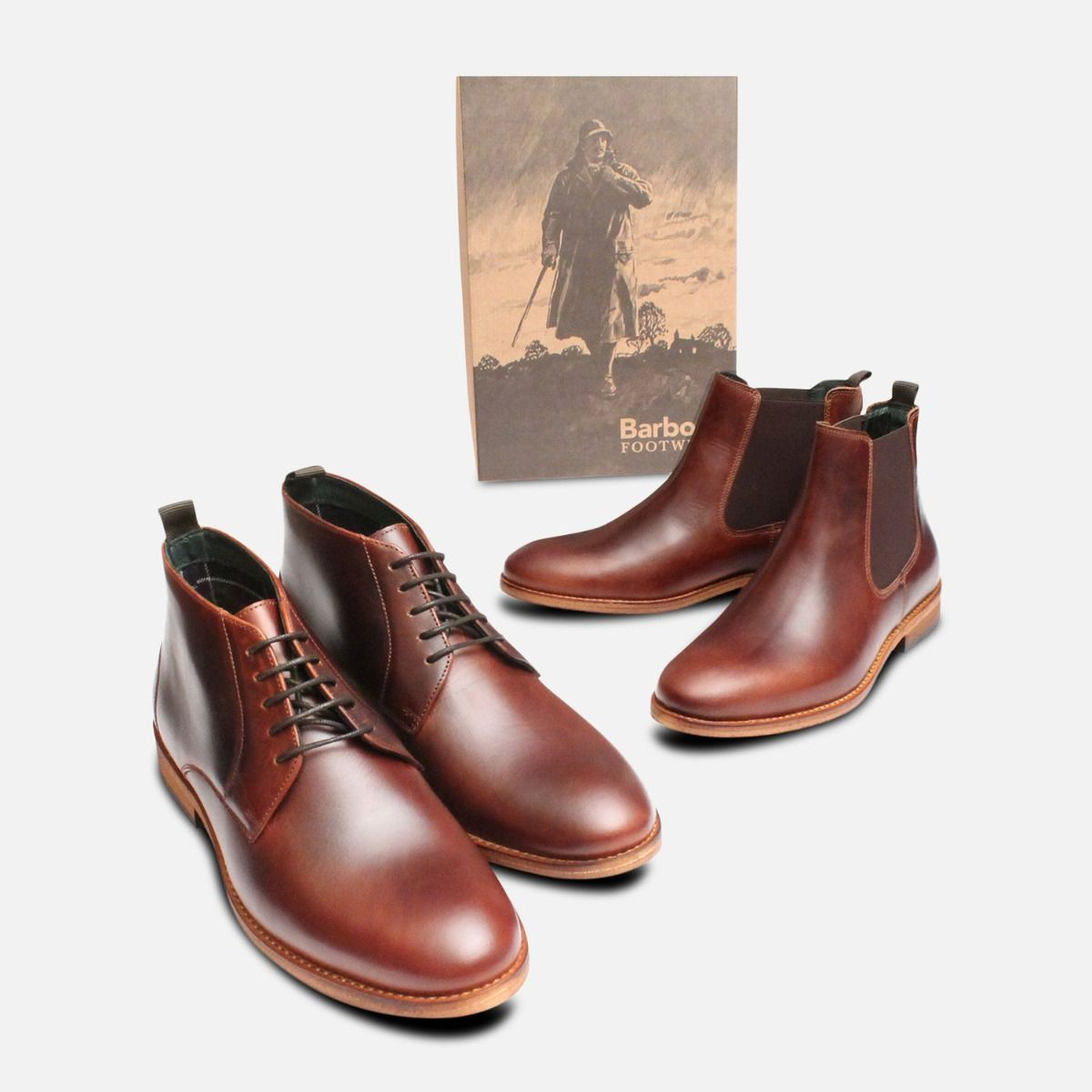 Barbour Waxy Brown Bedlington Chelsea Boots