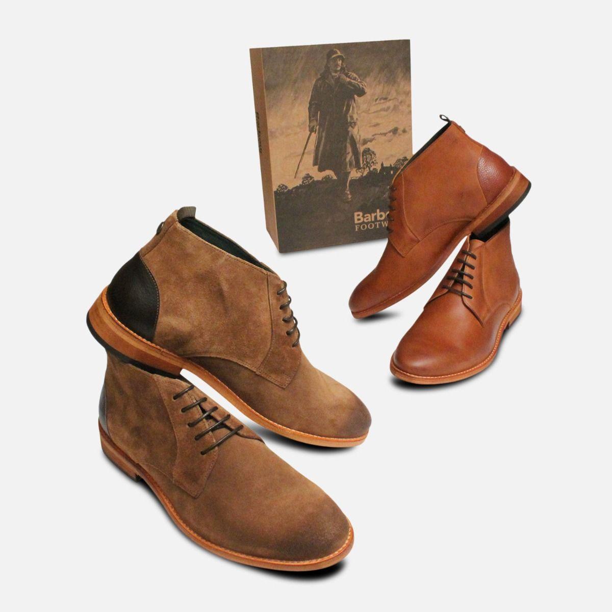 Light Brown Barbour Benwell Mens Chukka boots