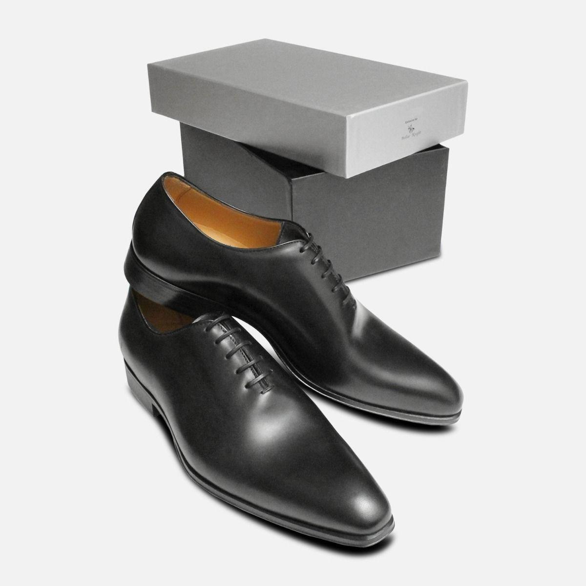 Black Wholecut Oxford Mens Shoes