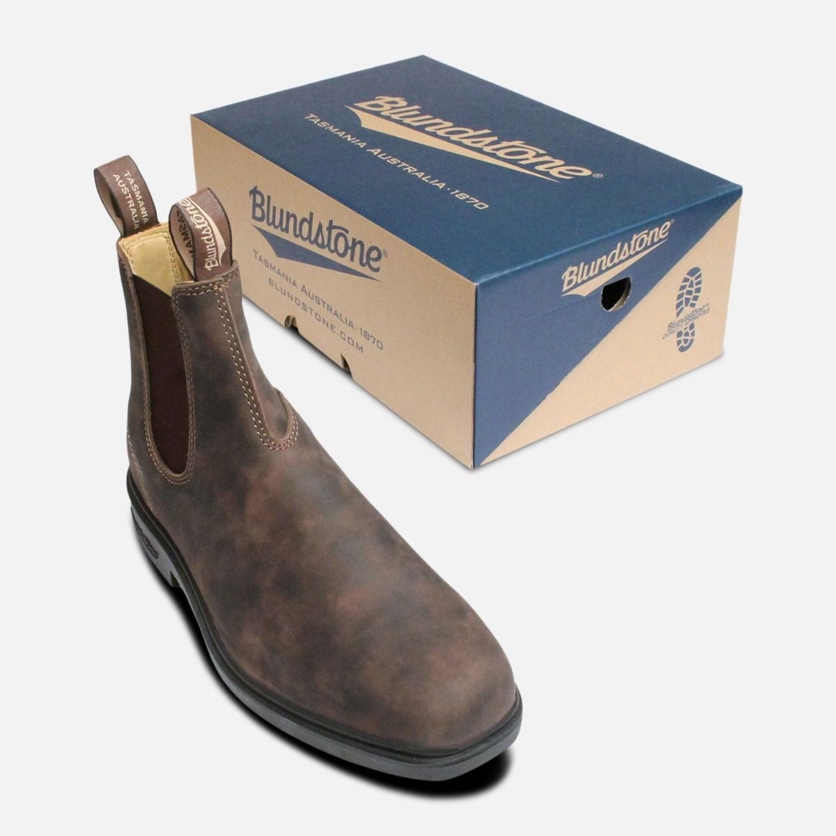Square Toe 1306 Rustic Brown Mens Blundstone Boots