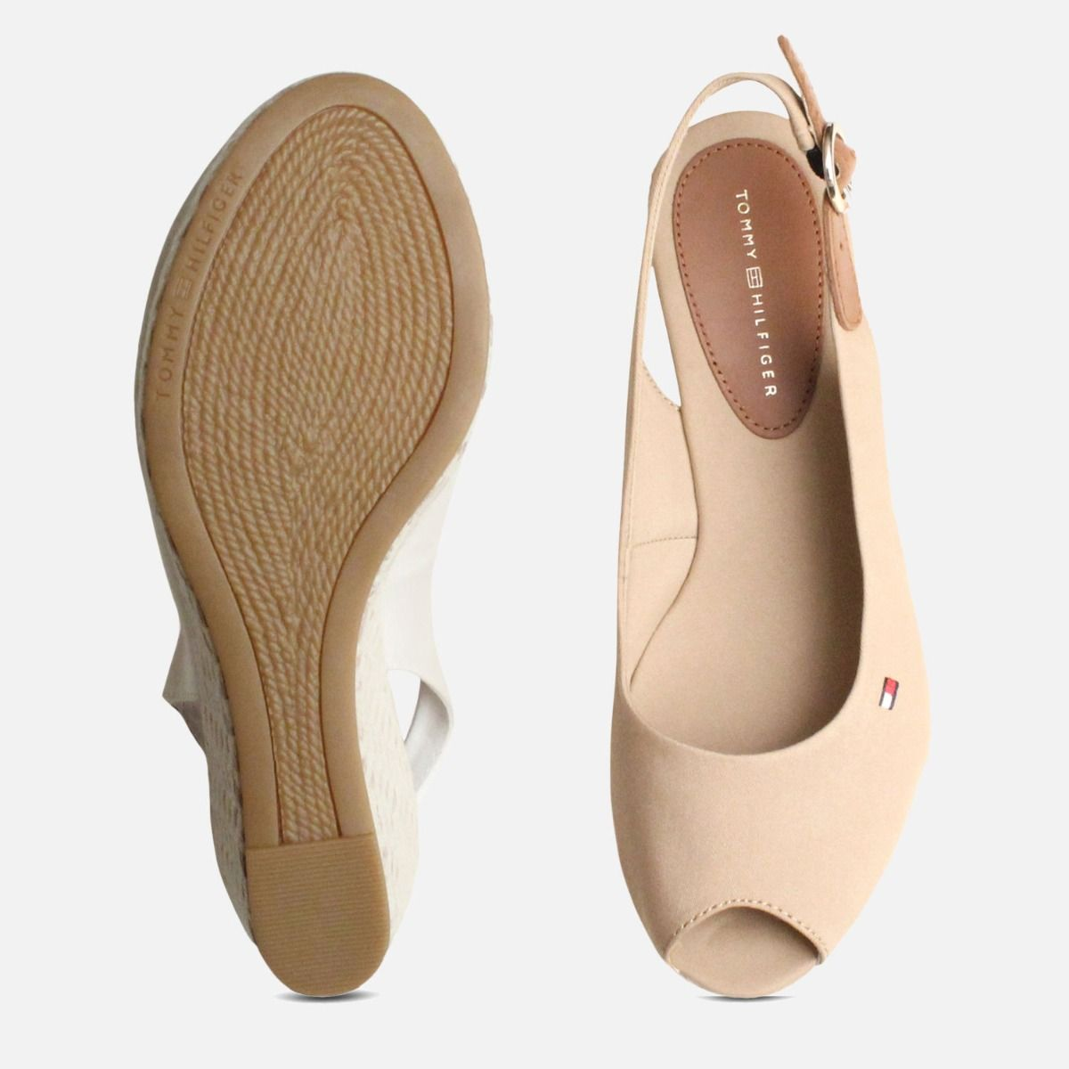 Tommy Hilfiger Elba Desert Sand Wedge Sandals