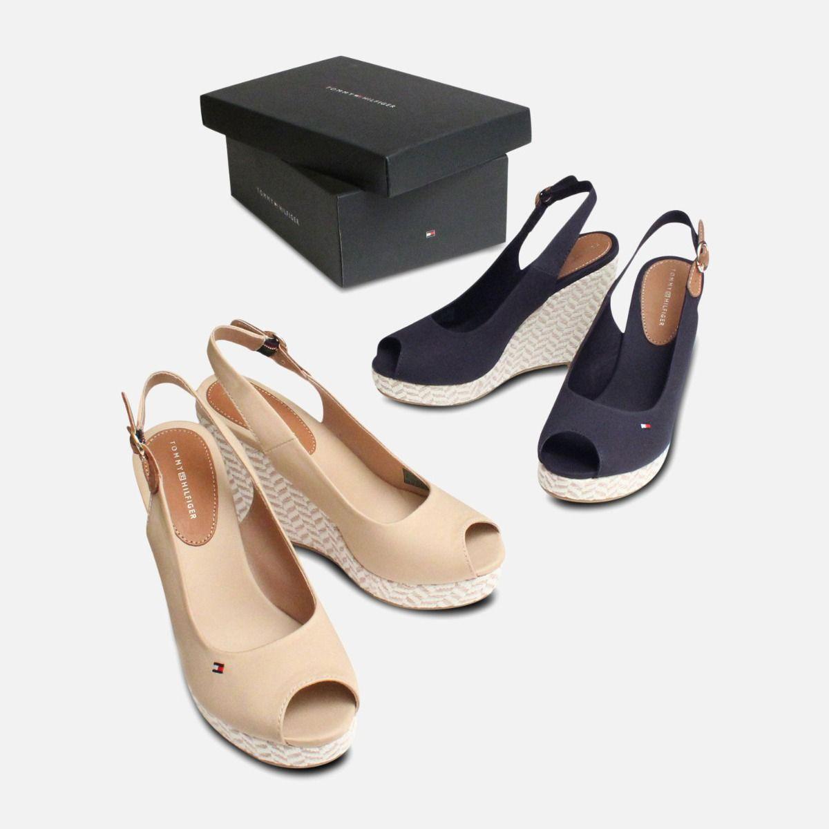Tommy Hilfiger Elena Platform Sand Wedge Sandals