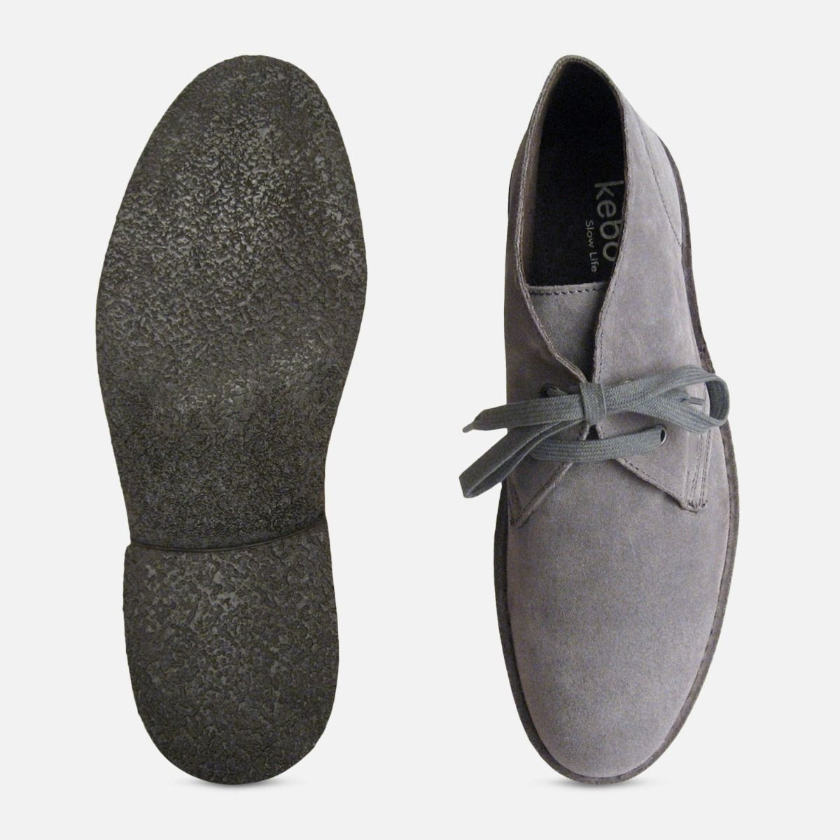 Ash Grey Suede Mens Designer Italian Desert Boots by Arthur Knight Shoes