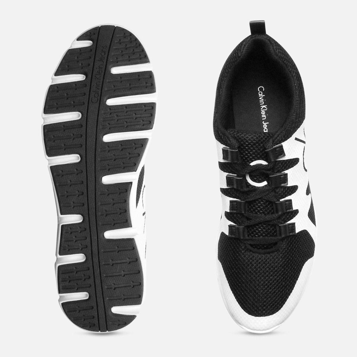 Calvin Klein Mens Murphy Black & White Sneakers