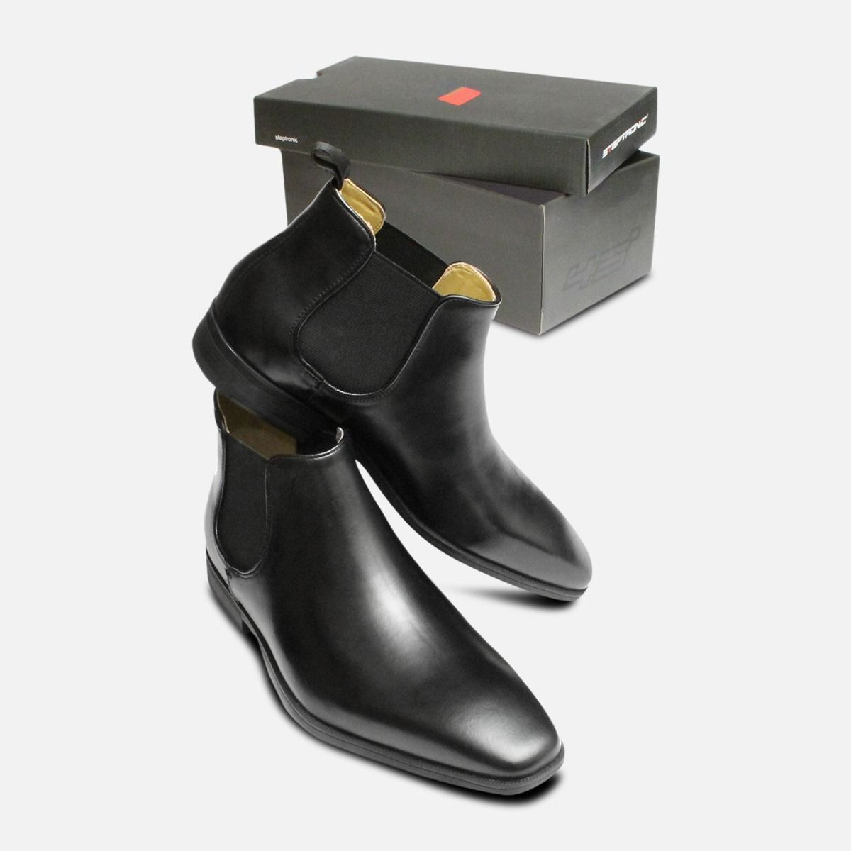 Chisel Toe Chelsea Boots Steptronic Hogan in Black