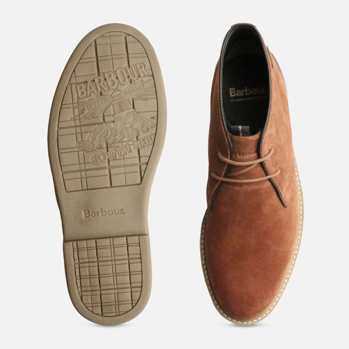 Rust Suede Barbour Mens Chukka Boots