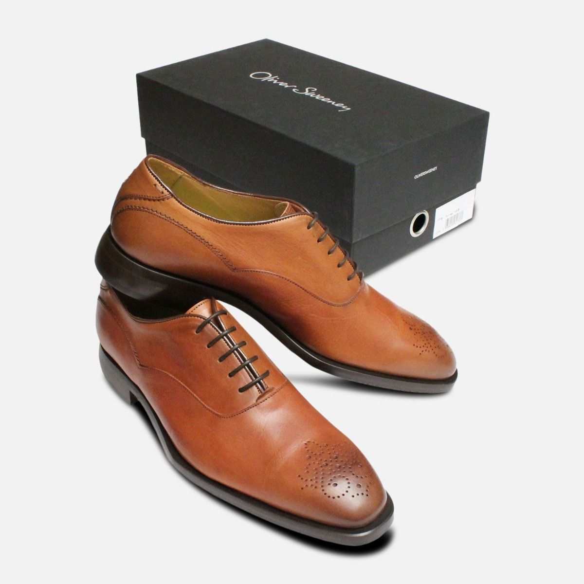 Oliver Sweeney Shoes Sabatini Cognac Brogues