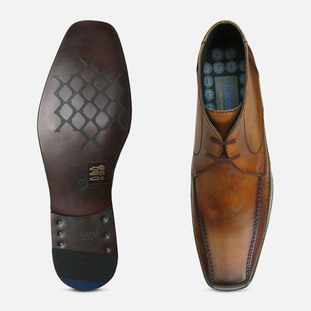 Exceed Tan Chukka Boots for Men UK