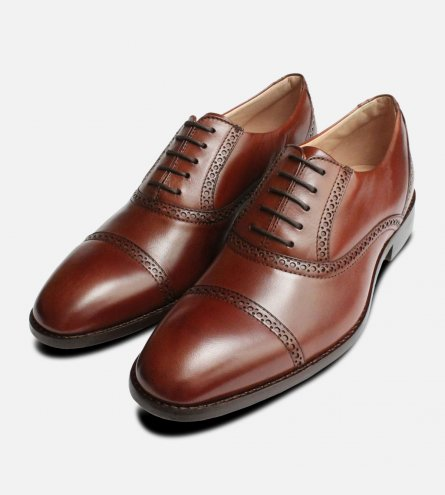 Luxury Kidskin Oxfords in Brown by Anatomic Prime