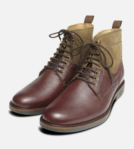Mens Brown Anatomic Hunting Style Boot