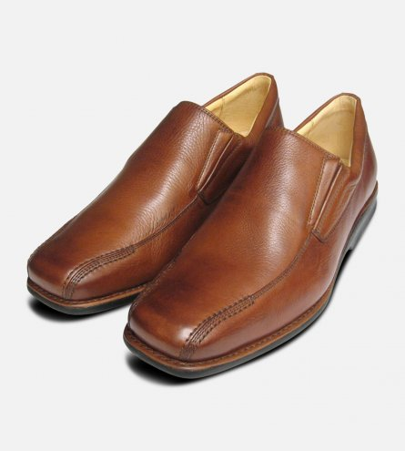Tan Step in Loafers by Anatomic Shoes UK