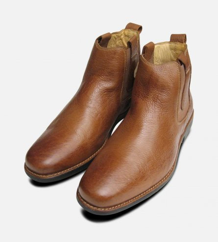 Formal Cognac Mens Chelsea Boots Anatomic & Co