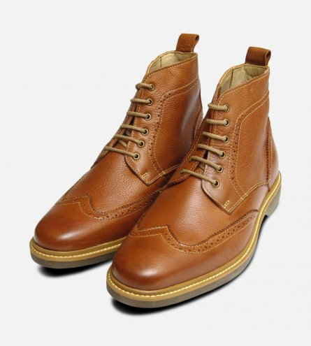 Antique Cognac Tan Nova Lace Up Mens Boot by Anatomic & Co