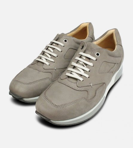 Beige Nubuck Leather Anatomic Vai Comfort Lace Sneaker