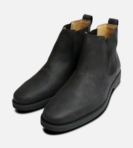 Matt Black Mustang Chelsea Boots Anatomic & Co