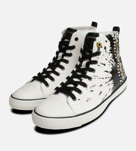Anton Off White Calvin Klein Hi Top Paint Boots