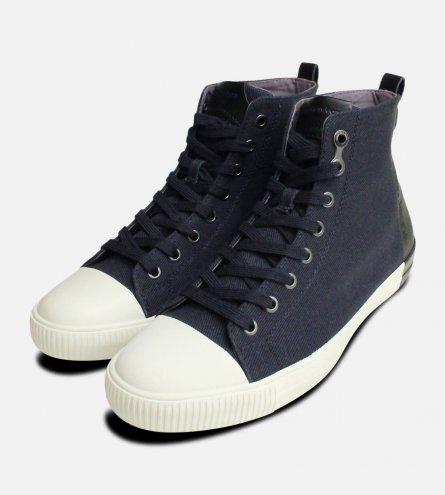 Arnaud Navy Blue Calvin Klein Hi Tops Shoes S0377