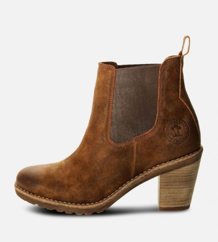 Panama Jack Avignon Brown Heeled Chelsea Boots