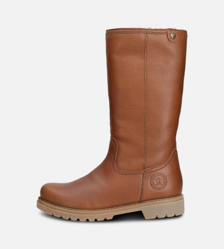 Panama Jack Ladies Bambina Waxy Bark Brown Boots