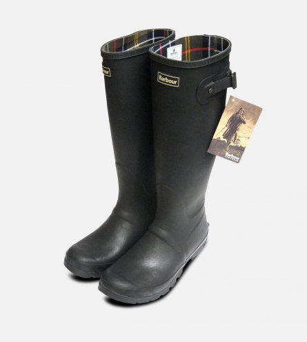 Barbour Mens Black Waterproof Rubber Wellington Boots