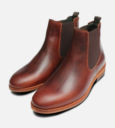 Barbour Waxy Brown Bedlington Chelsea Boots