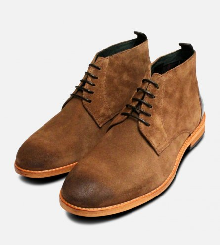 Snuff Suede Barbour Benwell Mens Chukka boots