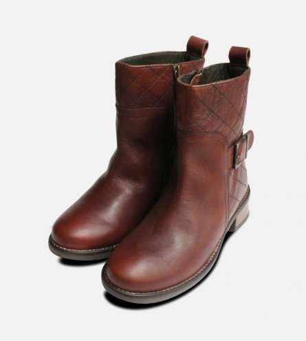 New Chestnut Ladies Lambeth Barbour Zip Boots