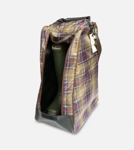 Barbour Classic Tartan Waterproof Wellington Boot Bag
