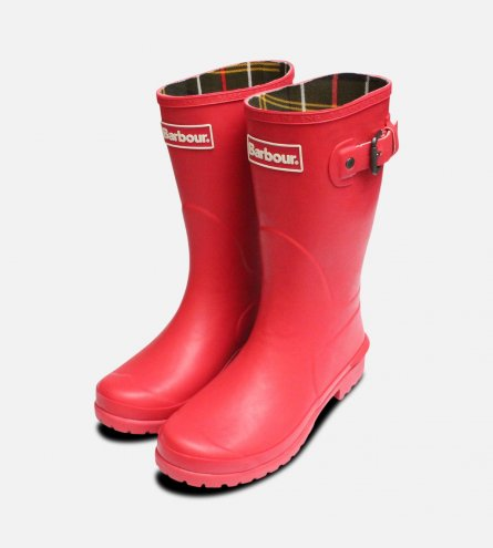 Raspberry Pink Barbour Short Primrose Wellies