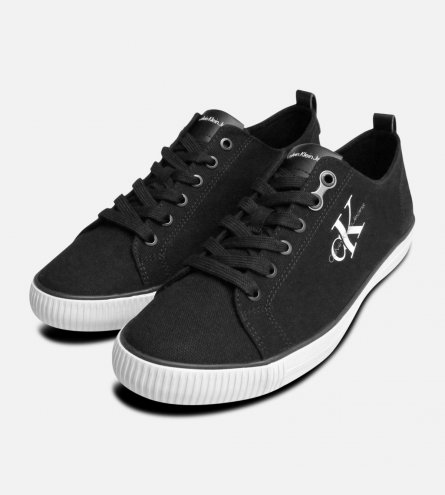 Calvin Klein Black Arnold Canvas Sneakers for Men