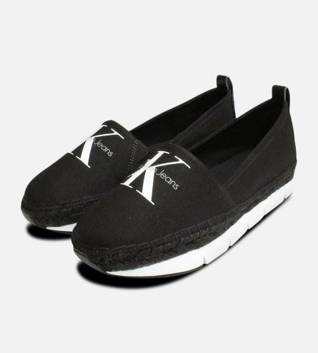 Calvin Klein Shoes Genna Canvas Espadrilles in Black