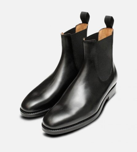 Black Wholecut Goodyear Welted Chelsea Boots