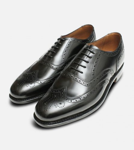 Wingcap Black Oxford Leather Sole Chapman Shoes