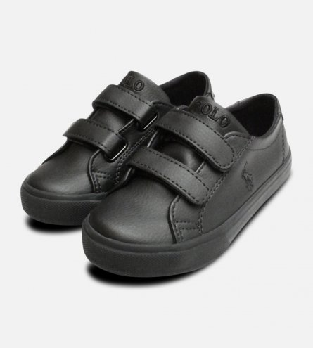 Black Ralph Lauren Polo Slater EZ Toddlers Shoes