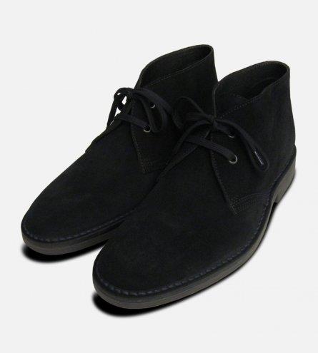 Black Suede Desert Boots for Men UK